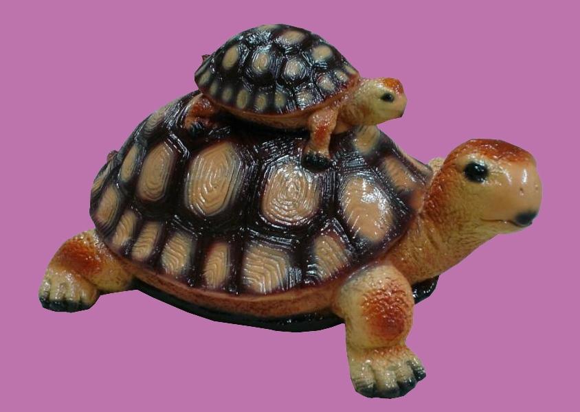 Черепаха из гипса из